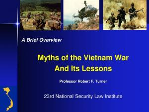Myths of the Vietnam War And Its Lessons