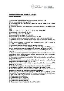 N DE DOCUMENTOS, PIEZAS: 42 LEGAJOS Lista de documentos: