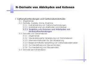 N-Derivate von Aldehyden und Ketonen