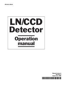 N Detector. Operation manual