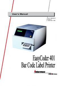 N Edition 4 September EasyCoder 401 Bar Code Label Printer