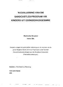 'N EVALUERING VAN DIE SANDCASTLES-PROGRAM VIR KINDERS UIT EGSKEIDINGSGESINNE