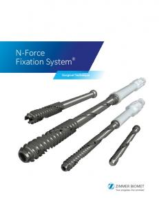 N-Force Fixation System. Surgical Technique