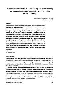 n Verkennende studie met die oog op die identifísering en kategorisering van leerteorieë met verwysing na die prediking