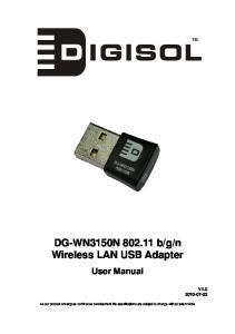 n Wireless LAN USB Adapter