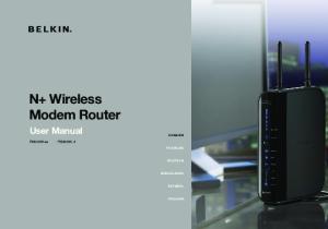 N+ Wireless Modem Router