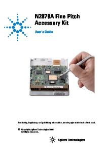 N2879A Fine Pitch Accessory Kit