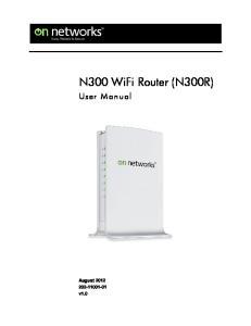 N300 WiFi Router (N300R)