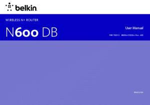 N600 DB. User Manual. F9K1102V3 8820xx01233xx Rev. A00. English