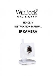 N7405JV INSTRUCTION MANUAL IP CAMERA