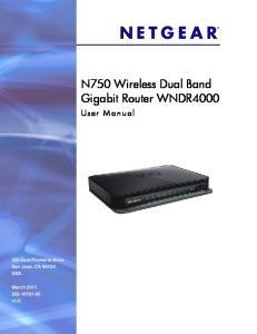 N750 Wireless Dual Band Gigabit Router WNDR4000