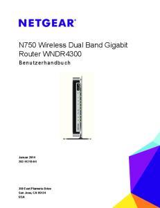N750 Wireless Dual Band Gigabit Router WNDR4300