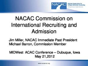 NACAC Commission on International Recruiting and Admission