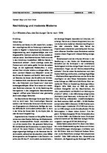 Nachbildung und moderate Moderne