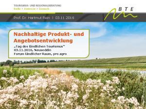 Nachhaltige Produkt- und Angebotsentwicklung
