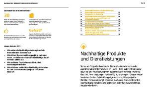 Nachhaltige Produkte und Dienstleistungen