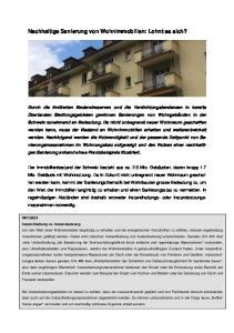 Nachhaltige Sanierung von Wohnimmobilien: Lohnt es sich?