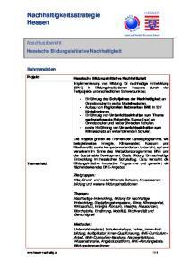 Nachhaltigkeitsstrategie Hessen