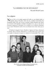 Nací en 1945, en la ciudad española de Sevilla, en una familia donde se