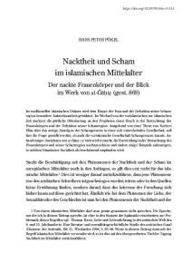 Nacktheit und Scham im islamischen Mittelalter