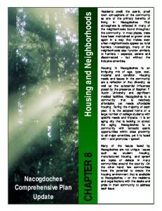 Nacogdoches Comprehensive Plan Update