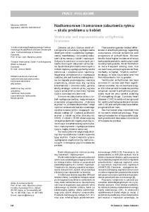 Nadkomorowe i komorowe zaburzenia rytmu skala problemu u kobiet