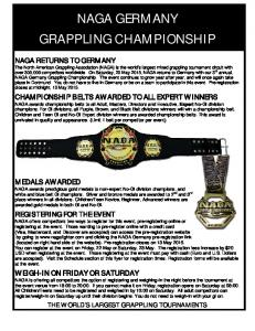 NAGA GERMANY GRAPPLING CHAMPIONSHIP