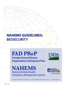 NAHEMS National Animal Health Emergency Management System