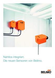 Nahtlos integriert. Die neuen Sensoren von Belimo