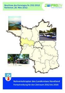 Nahverkehrsplan des Landkreises Havelland