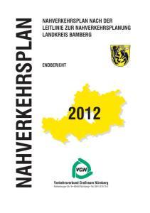 Nahverkehrsplan Landkreis Bamberg VGN GmbH