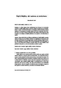 Naí b Mahfãz: del realismo al simbolismo