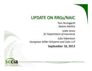 NAIC. September 18, 2012