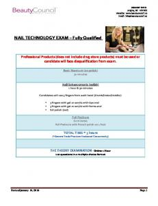 NAIL TECHNOLOGY EXAM Fully Qualified