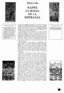NAIPES: LA MAGIA DE LA ESPERANZA