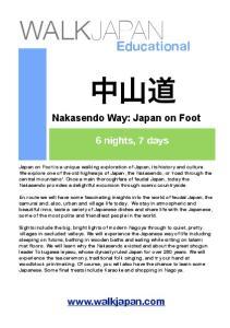 Nakasendo Way: Japan on Foot