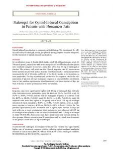 Naloxegol for Opioid-Induced Constipation in Patients with Noncancer Pain