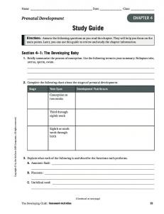 Name Date Class. Study Guide