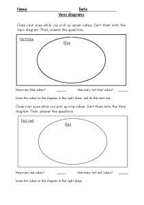 Name Date Venn diagrams