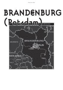 Name des Landes. BRANDENBURG (Potsdam)