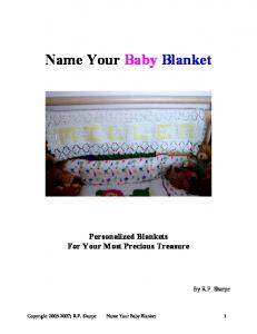 Name Your Baby Blanket
