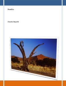 Namibia. Claudia Dippold