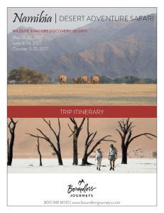 Namibia DESERT ADVENTURE SAFARI