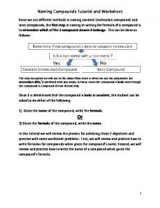 Naming Compounds Tutorial and Worksheet