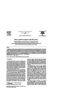 Nano-crystalline tungsten oxide NO 2 sensor