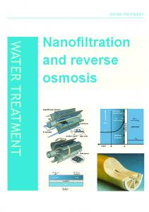 Nanofiltration and reverse osmosis