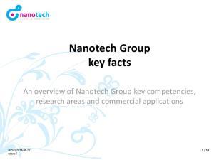 Nanotech Group key facts