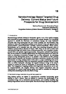 Nanotechnology Based Targeted Drug Delivery: Current Status and Future Prospects for Drug Development