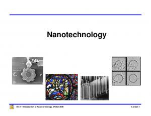 Nanotechnology. EE 211 Introduction to Nanotechnology, Winter 2006 Lecture 1