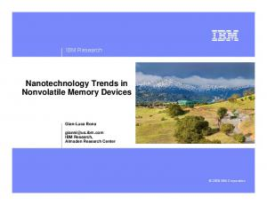 Nanotechnology Trends in Nonvolatile Memory Devices